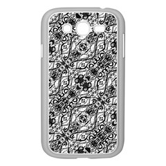 Black And White Ornate Pattern Samsung Galaxy Grand Duos I9082 Case (white)