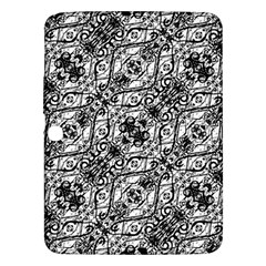 Black And White Ornate Pattern Samsung Galaxy Tab 3 (10 1 ) P5200 Hardshell Case