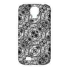 Black And White Ornate Pattern Samsung Galaxy S4 Classic Hardshell Case (pc+silicone)