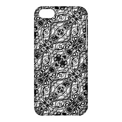 Black And White Ornate Pattern Apple Iphone 5c Hardshell Case