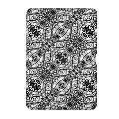 Black And White Ornate Pattern Samsung Galaxy Tab 2 (10 1 ) P5100 Hardshell Case
