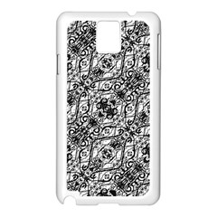 Black And White Ornate Pattern Samsung Galaxy Note 3 N9005 Case (white)