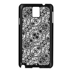 Black And White Ornate Pattern Samsung Galaxy Note 3 N9005 Case (black)