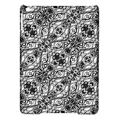 Black And White Ornate Pattern Ipad Air Hardshell Cases