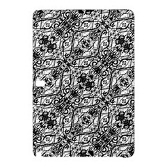 Black And White Ornate Pattern Samsung Galaxy Tab Pro 10 1 Hardshell Case