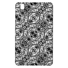 Black And White Ornate Pattern Samsung Galaxy Tab Pro 8 4 Hardshell Case
