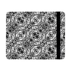 Black And White Ornate Pattern Samsung Galaxy Tab Pro 8 4  Flip Case