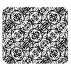 Black And White Ornate Pattern Double Sided Flano Blanket (small)