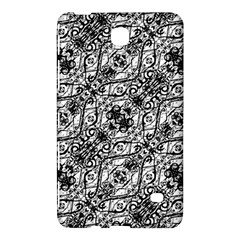 Black And White Ornate Pattern Samsung Galaxy Tab 4 (8 ) Hardshell Case