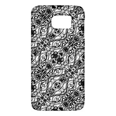Black And White Ornate Pattern Galaxy S6