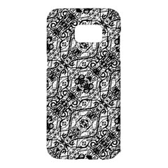 Black And White Ornate Pattern Samsung Galaxy S7 Edge Hardshell Case