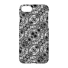 Black And White Ornate Pattern Apple Iphone 7 Hardshell Case