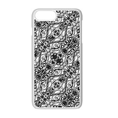 Black And White Ornate Pattern Apple Iphone 7 Plus Seamless Case (white)