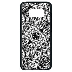 Black And White Ornate Pattern Samsung Galaxy S8 Black Seamless Case