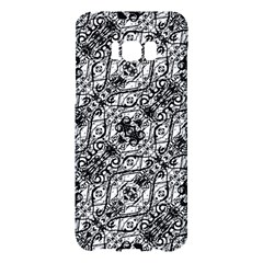 Black And White Ornate Pattern Samsung Galaxy S8 Plus Hardshell Case