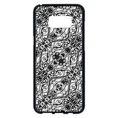 Black And White Ornate Pattern Samsung Galaxy S8 Plus Black Seamless Case