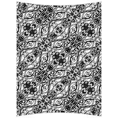 Black And White Ornate Pattern Back Support Cushion