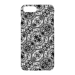 Black And White Ornate Pattern Apple Iphone 8 Plus Hardshell Case