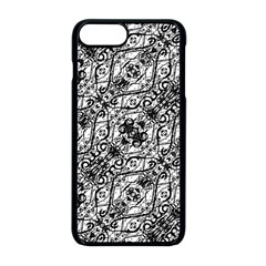 Black And White Ornate Pattern Apple Iphone 8 Plus Seamless Case (black)