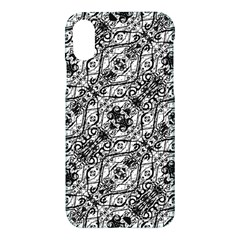 Black And White Ornate Pattern Apple Iphone X Hardshell Case