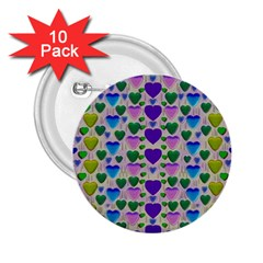 Love In Eternity Is Sweet As Candy Pop Art 2 25  Buttons (10 Pack)