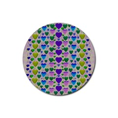 Love In Eternity Is Sweet As Candy Pop Art Rubber Coaster (round)
