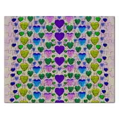 Love In Eternity Is Sweet As Candy Pop Art Rectangular Jigsaw Puzzl