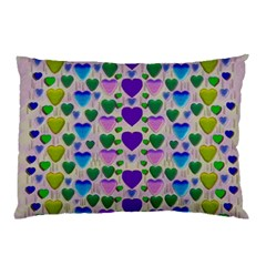 Love In Eternity Is Sweet As Candy Pop Art Pillow Case