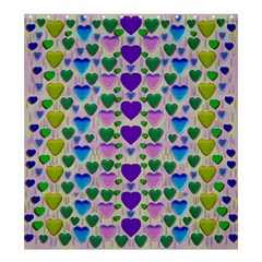 Love In Eternity Is Sweet As Candy Pop Art Shower Curtain 66  X 72  (large)