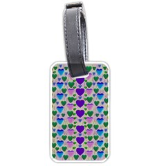 Love In Eternity Is Sweet As Candy Pop Art Luggage Tags (one Side)