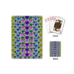 Love In Eternity Is Sweet As Candy Pop Art Playing Cards (mini)