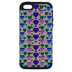 Love In Eternity Is Sweet As Candy Pop Art Apple Iphone 5 Hardshell Case (pc+silicone)