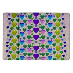 Love In Eternity Is Sweet As Candy Pop Art Samsung Galaxy Tab 10 1  P7500 Flip Case
