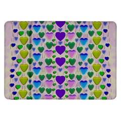 Love In Eternity Is Sweet As Candy Pop Art Samsung Galaxy Tab 8 9  P7300 Flip Case