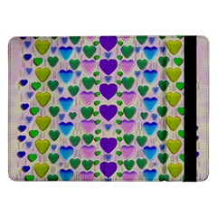Love In Eternity Is Sweet As Candy Pop Art Samsung Galaxy Tab Pro 12 2  Flip Case