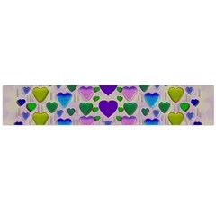 Love In Eternity Is Sweet As Candy Pop Art Large Flano Scarf