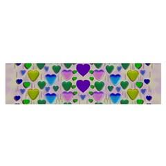 Love In Eternity Is Sweet As Candy Pop Art Satin Scarf (oblong)