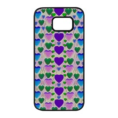 Love In Eternity Is Sweet As Candy Pop Art Samsung Galaxy S7 Edge Black Seamless Case