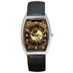 Wonderful Steampunk Desisgn, Clocks And Gears Barrel Style Metal Watch