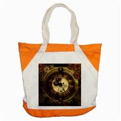 Wonderful Steampunk Desisgn, Clocks And Gears Accent Tote Bag