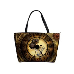 Wonderful Steampunk Desisgn, Clocks And Gears Shoulder Handbags