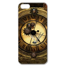 Wonderful Steampunk Desisgn, Clocks And Gears Apple Seamless Iphone 5 Case (clear)