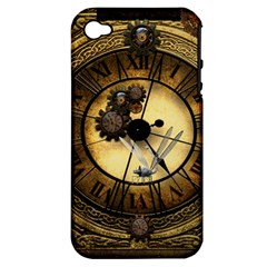 Wonderful Steampunk Desisgn, Clocks And Gears Apple Iphone 4/4s Hardshell Case (pc+silicone)