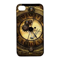 Wonderful Steampunk Desisgn, Clocks And Gears Apple Iphone 4/4s Hardshell Case With Stand