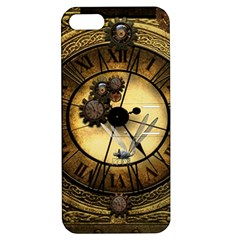 Wonderful Steampunk Desisgn, Clocks And Gears Apple Iphone 5 Hardshell Case With Stand
