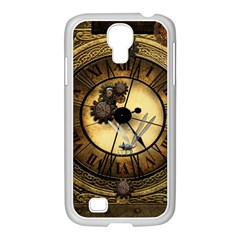 Wonderful Steampunk Desisgn, Clocks And Gears Samsung Galaxy S4 I9500/ I9505 Case (white)
