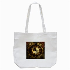 Wonderful Steampunk Desisgn, Clocks And Gears Tote Bag (white)