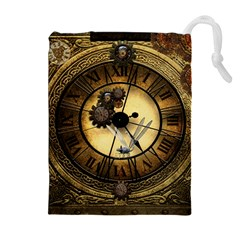 Wonderful Steampunk Desisgn, Clocks And Gears Drawstring Pouches (extra Large)