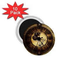 Wonderful Steampunk Desisgn, Clocks And Gears 1 75  Magnets (10 Pack)