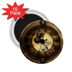 Wonderful Steampunk Desisgn, Clocks And Gears 2 25  Magnets (10 Pack)